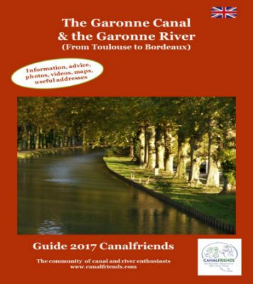 Canalfriends Garonne canal and River e-guide - April 2017
