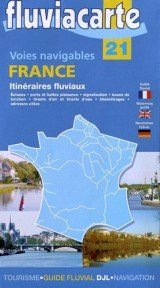 Canalfriends Waterways bookshop, Itinéraires fluviaux et voies navigables France (Anglais) Carte