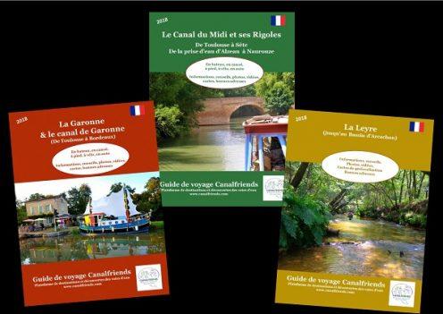 guides de voyages; gratuits; numeriques; canal de garonne; canal du midi; leyre; canalfriends