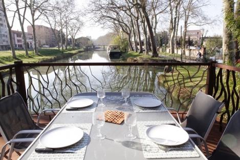 hebergement; accommodation; canal du midi; toulouse; bateau